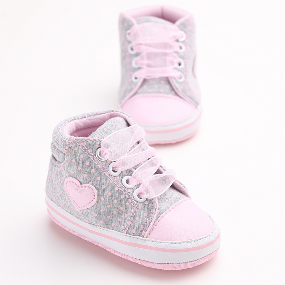 Girls shoes baby Fashion Baby Girl Canvas Shoe Heart shape
