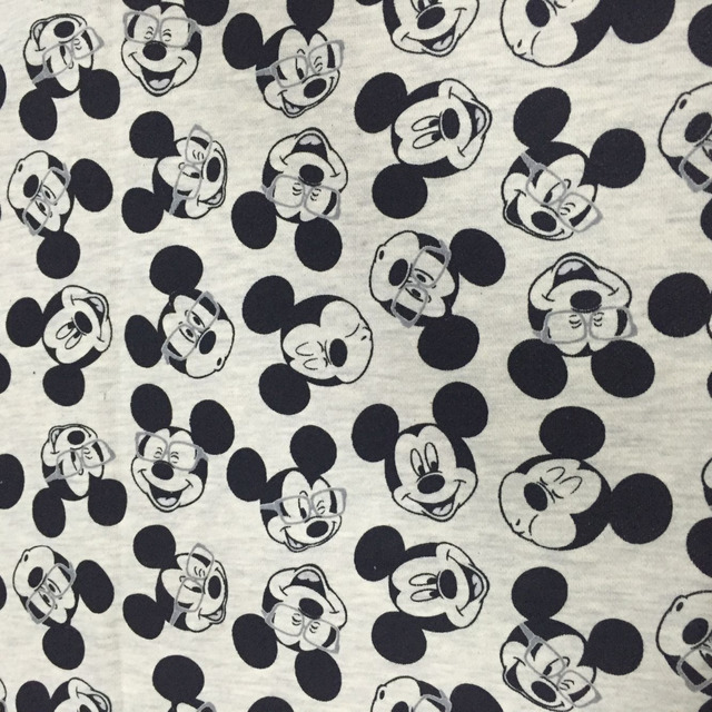 BLACK AND WHITE cartoon cotton fabric Knitted cloth for Patchwork ...