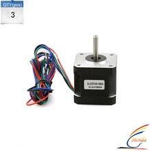 3PCS/Lot XY42STH40-1684A 40mm*42mm High Torque Hybrid CNC Stepper Motor 42 motor NEMA17 For REPRAP Makerbot 3D Printer Kit