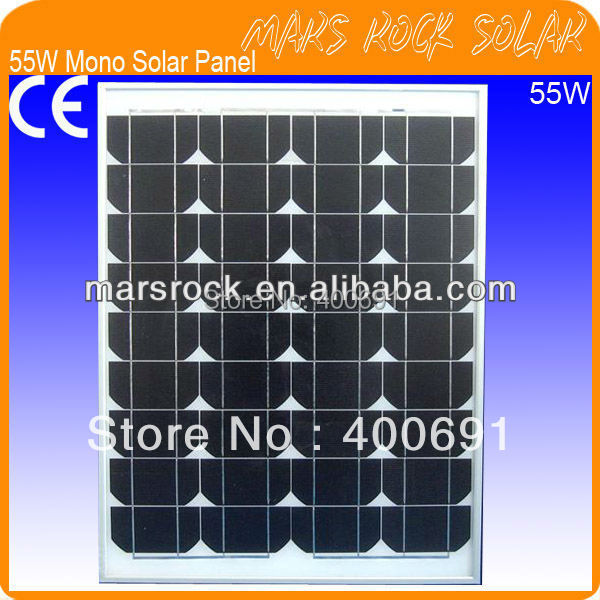 55W 18V Mono Solar Module Panel with Special Technology, Nice Appearance, Excellent Performance, Fend Against Snowstorm & Wind 35w 18v polycrystalline solar panel module with special technology high efficiency long lifecycle fend against snowstorm