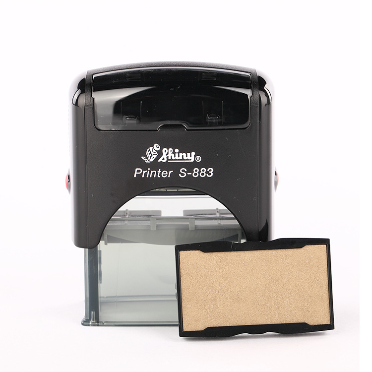 Shiny S-883 18 x 47mm Self Inking Rubber Stamp Custom Office Stationary Business Mini Stamper Printing Kit Free Shipping new 220v photosensitive portrait flash stamp machine kit self inking stamping making seal holder film pad no ink
