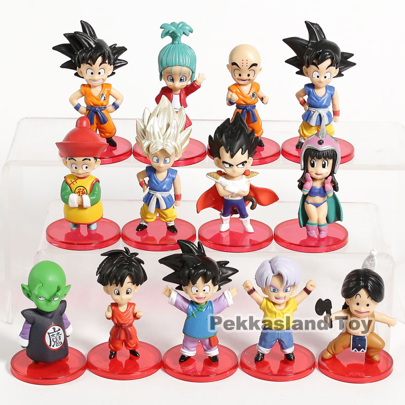 Dragon Ball Z Son Goku Gohan Goten Vegeta Trunks Krillin Piccolo Upa Bulla Chichi <font><b>Dragonball</b></font> Action <font><b>Figures</b></font> Toys 13pcs/<font><b>set</b></font> image
