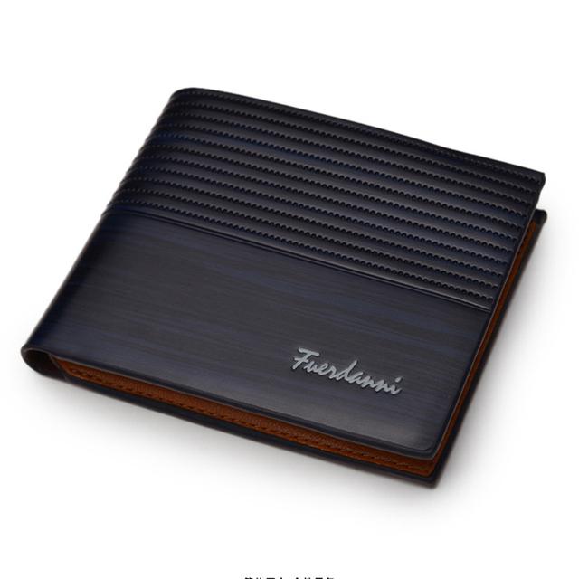 2019 Vintage Men Wallet PU Leather Brand Luxury Wallets Short Holder Clip Credit Card Money Bag T002