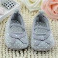 Primeros Caminante Zapatos de Las Muchachas de la Princesa Prewalker Zapato Infantil Del Algodón Del Niño de La Flor del Bebé de la Mariposa Dot Walking Suela Blanda