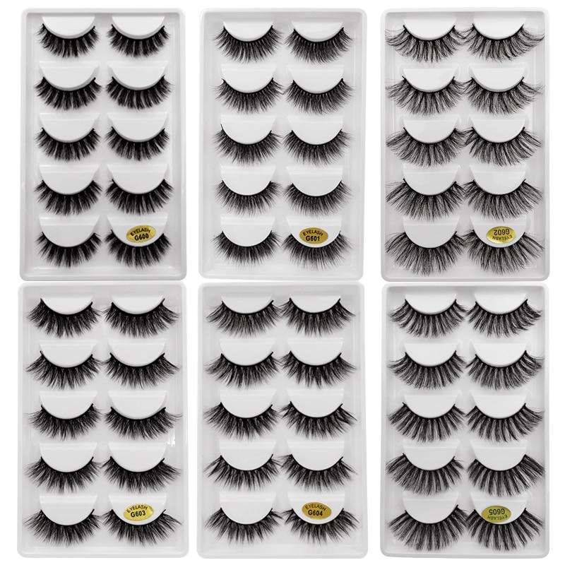 100 Pairs Mink Eyelashes Wholesale False Eyelashes Lashes Natural Long 3d Mink Lashes Makeup Fake Eyelashes Maquiagem Faux Cils