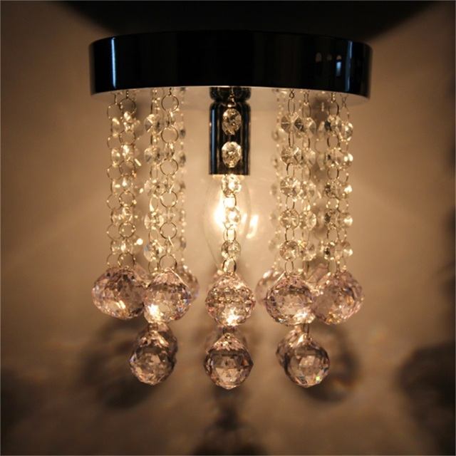 Crystal droplets silver chrome ceiling light fitting lamp for decorative light for home party decor p25