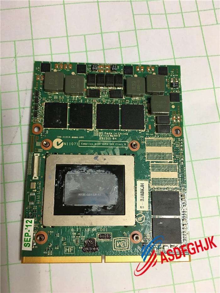 Carte graphique d'origine GTX675M GTX 675 Mt 2 GB vga 6-71-X510L-D01 6-77-X510L-D01-2 GDDR5 entièrement testée