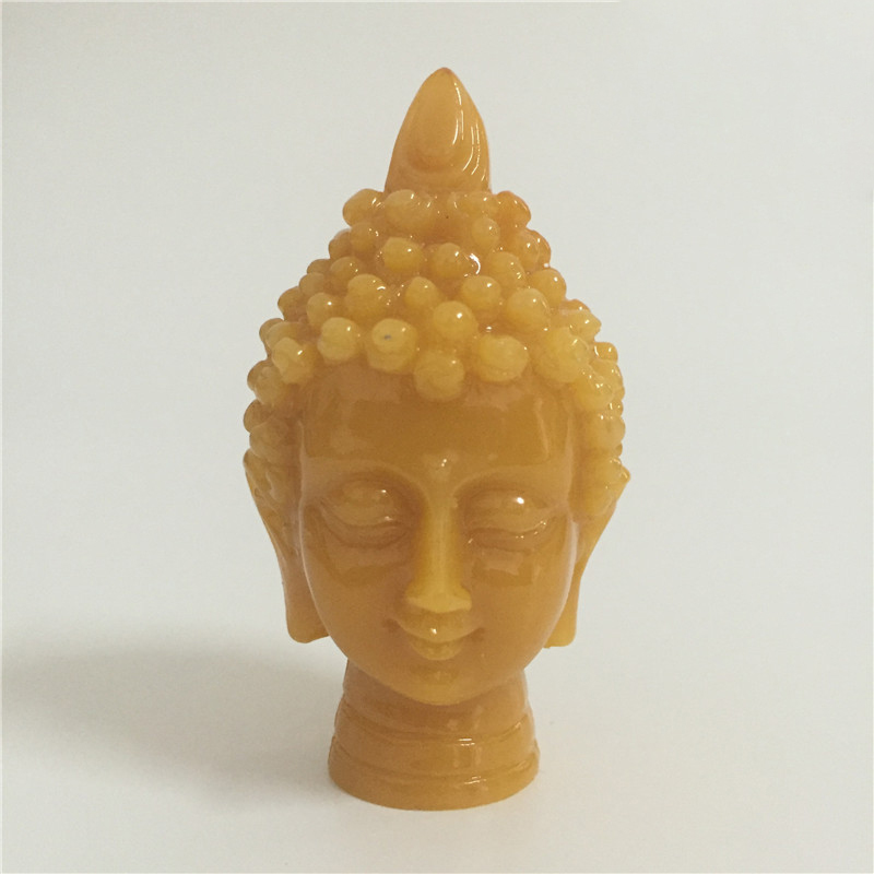 Meditation Thailand Buddha Head Statue Decorative Sculptures Man-made Jade Stone Ornaments Figurines Home Decor Buddha Statues