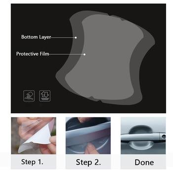 5Pcs/Set Transparent Car Handle Protective Film Door Stickers On Vinyl Anti-Scratch Resistant Sicker Accessory Auto