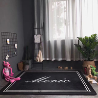 New Arrival Home Decor Solid Color Carpets For Living Room Non Slip Area Rugs For Sitting