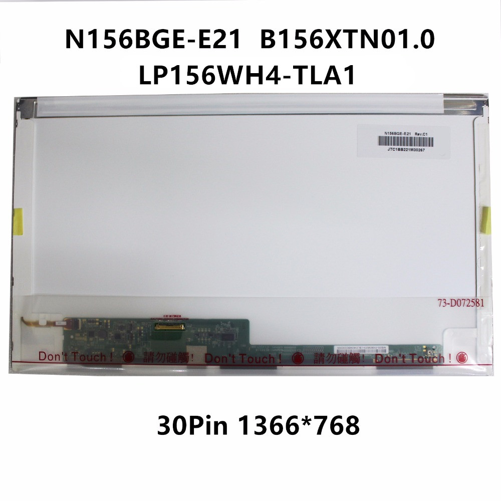 15.6'' Laptop LCD Screen Display Matrix Replacement For Acer V3-551G V3-571G N156BGE-E21 REV.C1 B156XTN01.0 LP156WH4 TLA1 / TPA1 new original lcd cover bezel for acer aspire v3 551 v3 571 v3 551g v3 571g lcd cover and front bezel ap0n7000c00 ap0n7000810