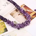 Luxury Choker Necklace For Women Charming Dress Accessory For Wedding Party Rope Chain 100% Natural Amethyst Stone Necklace
