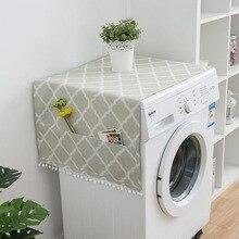 Новая мода холодильник ткань одной двери Пылезащитный Чехол для холодильника двойной открытый стиральная машина крышка полотенце 1 шт
