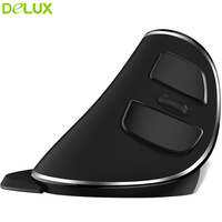 Delux M618 Plus Pure Mice Vertical Ergonomic Computer Mouse Wireless 2.4ghz USB Optical Mouse Gamer With Receiver for Desktop