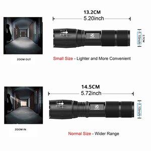 Image 5 - مصباح LED فائق السطوع مصباح يدوي مع COB الجانب ضوء 4 أوضاع الإضاءة إضاءة مقاومة للماء الشعلة للتخييم ، والمغامرة ، وركوب الليل