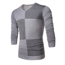 New 2016 Fashion Winter Warm V-neck Long Sleeve Casual Autumn Pullovers Knitted Sweater Man Outdoors Oversized Male Sweaters