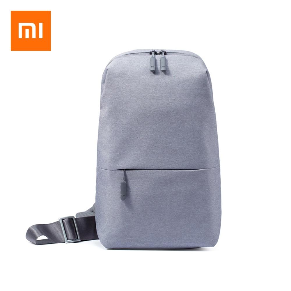 Original Xiaomi Minimalist Urban Backpack Leisure Chest Pack Men Women Business Student Small Shoulder Messenger Bags