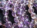 (38 beads/set) Charms natural 10mm Bolivia ametrine smooth round loose beads  wholesale for jewelry making design