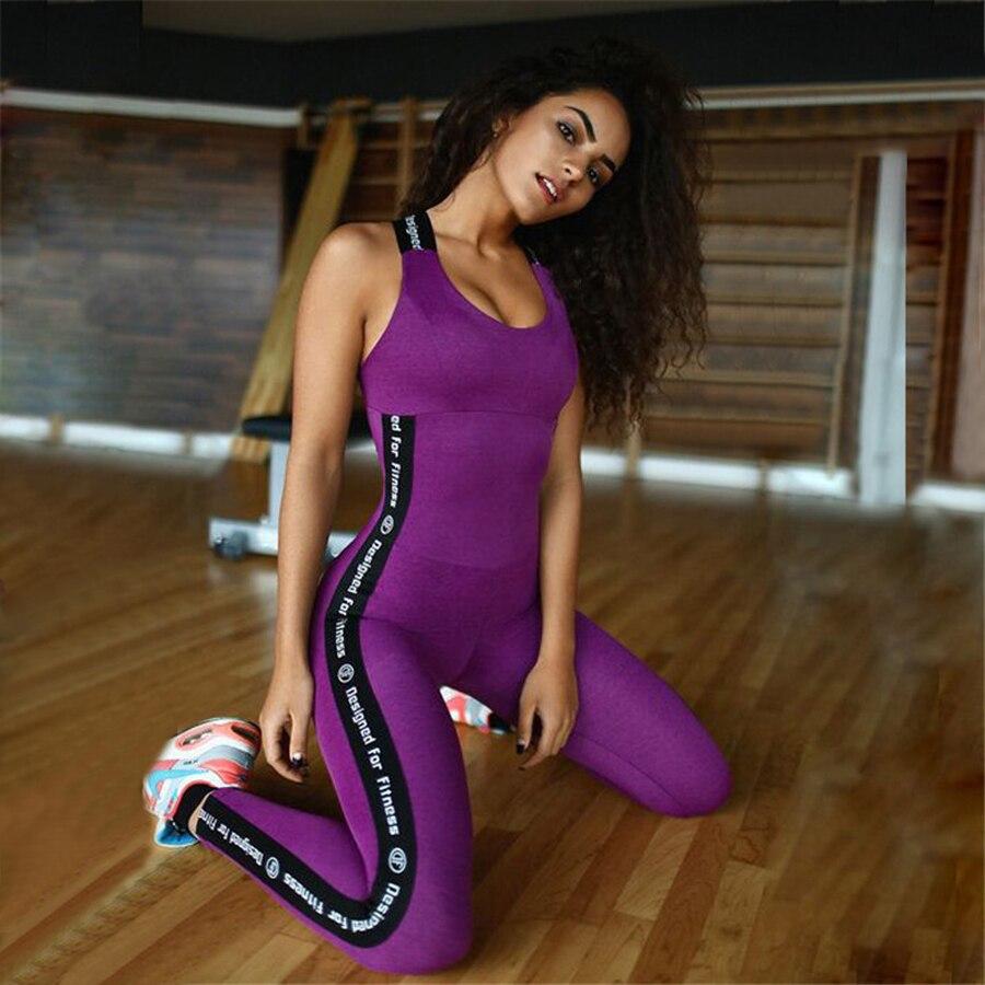 Women s yoga sets sport suit workout clothes female fitness sports - Women S Fitness Gym Yoga Set Sports Suit Conjoined Lady Girl Yoga Suit Elastic Yoga Pants Fitness