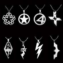 Anime Batman X-Men Captain America Fantastic Four ETC Logo Titanium Steel Necklace Pendant Men Jewelry Movie Gift Woman Chain captain fantastic