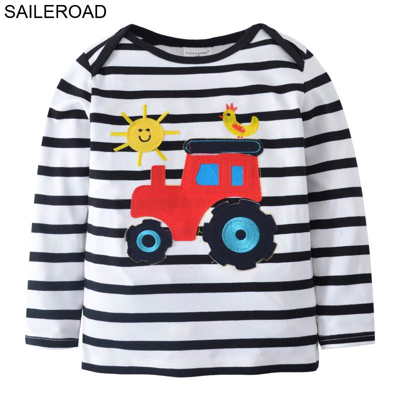 SAILEROAD 2-7Years Cotton Children Kids T Shirt New Spring Baby Boy's Long Sleeve T-Shirts For Cartoon Tees Muchacho Camisa De T fashion long sleeve o neck t shirt 2017 new arrival men t shirts tops tees men s cotton t shirts 3colors men t shirts m xxl