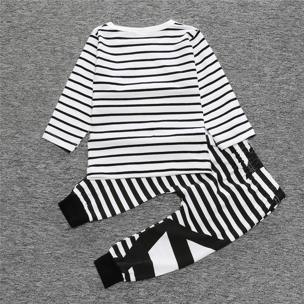 2017-New-Fashion-baby-boy-girl-clothing-set-cotton-letter-long-sleeved-T-shirt-Striped-Pants-Baby-Clothing-Set-SY106-2