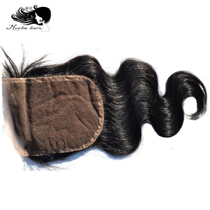 Image 5 - Perruque Body Wave péruvienne MOCHA Hair, cheveux 100% naturels, cheveux vierges, avec une Lace Closure de 4*4, en lot de 3, livraison gratuite