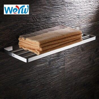 WEYUU Bathroom Accessories Towel Rack  304Stainless Steel Wall-mounted Towel Holder  Bathroom Shelf Brushed Nickel brushed stainless steel wall mounted bathroom towel rail holder storage rack shelf bar