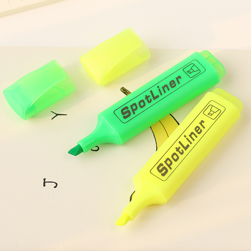 6 pcs Lot Color spotliner Highlighter pen Fluorescent marker Stationery Office highlight School supplies caneta destaca FB687 in Highlighters from Office School Supplies