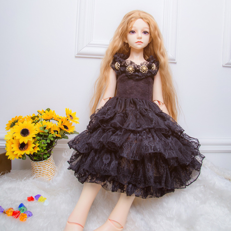 Fashion Black lace dress 1/4 scale BJD clothes for doll BJD/SD Accessories girls toys fashion black overcoat for bjd 1 3 uncle sd17 bjd sd doll clothes accessories