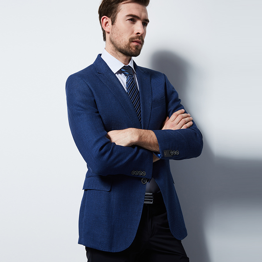 2018 Hommes De Mode Slim Fit Suit Veste Formelle Bussiness Costume Veste Blazer Masculino Unique Bouton Manteau De Mariage Costumes pour Hommes
