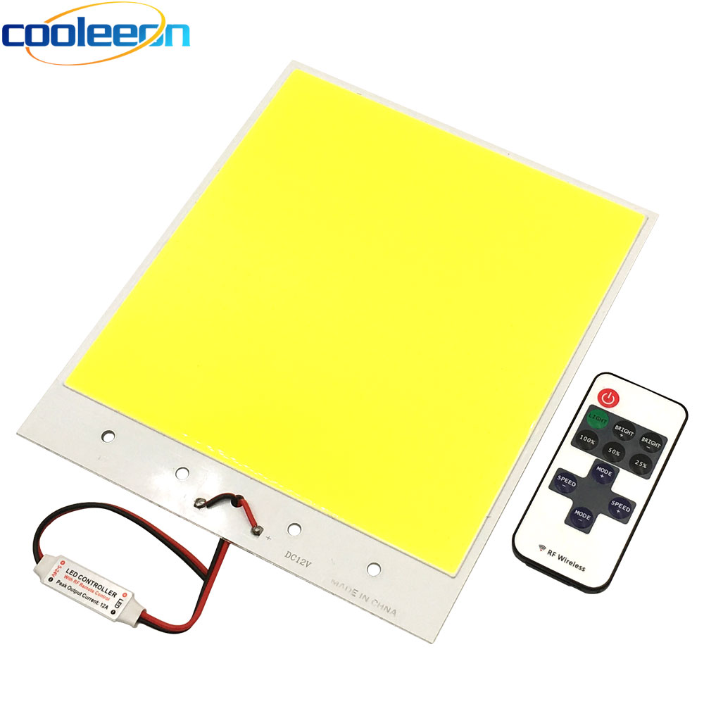 Super Bright Dimmable 12V COB LED Lights Board Panel Lamp max 300W LED Lighting with Dimmer Cold White 6500K COB Bulbs for DIY sencart cob 20w 1600lm 6500k white square cob led module silver dc 30 36v