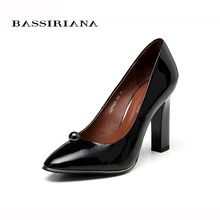 Women Pumps Square Heel Pointed Toe High-heeled Women Shoe