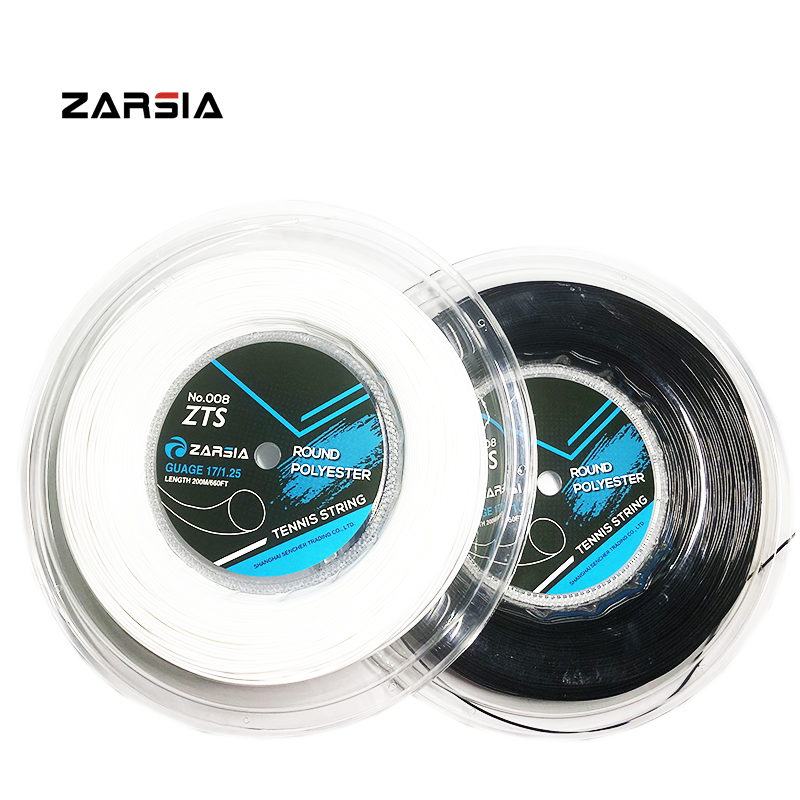 1 Reel ZARSIA 4G Polyester Tennis Racket String 1.25MM Tennis Racquet Durable Tennis Strings Round Smooth 200M Big Reel 4 Colors
