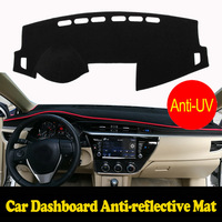 Car Dashboard Cover For Honda Fit 2014 Right Hand Drive Dashboard Mats Console Avoid Light Pad