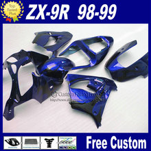 Motorcycle fairings for Kawasaki Free custom fairings1998 1999 ZX9R Ninja zx9r 98 99 dark blue bodykit
