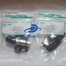 Оригинальный коннектор для NEUTRIK, 20 шт./лот, 10 шт. NC3MXX и 10 шт. NC3FXX «папа» и «мама», набор из 3 шт. XLR avec с!