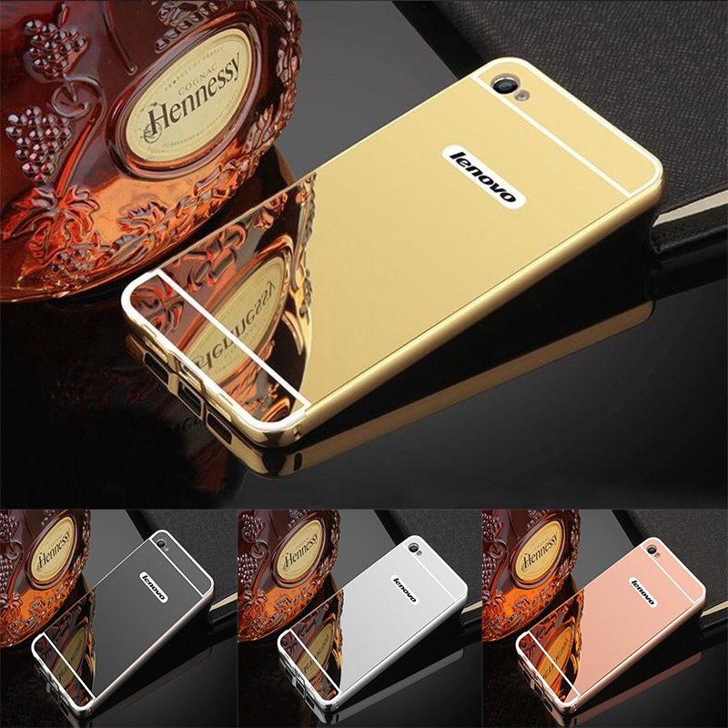 Luxury Gold Plating Aluminum Metal Mirror <font><b>Case</b></font> <font><b>For</b></font> <font><b>Lenovo</b></font> <font><b>S90</b></font> S 90 S90T Phone <font><b>Case</b></font> Back <font><b>For</b></font> <font><b>Lenovo</b></font> S90T <font><b>case</b></font> image