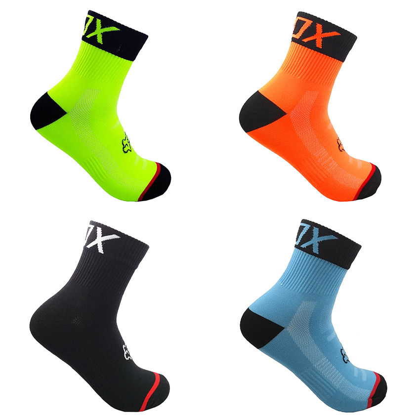 24 Color Fashion Cycling Socks Brand Bicycle Socks Men Women Professional Breathable Sports Socks Basketball Socks