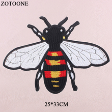 ZOTOONE Animal Iron bee Patches For Clothing Sew On Big Back Patch Applique DIY Accessory Decoration Embroidery For Clothes E брюки домашние boss hugo boss boss hugo boss bo010emahwf6
