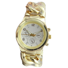 Fashion designer high quality coy bow chain strap men s gold watches hot sales Quartz Watches