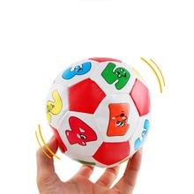 Baby Hand Fang Bälle Buchstaben Identifikation kleine Fußball PU weiche Baumwolle Füllung pädagogisches Baby Spielzeug