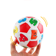 Купить с кэшбэком Baby hand catch balls letters identification  small football PU soft cotton filling educational baby toys