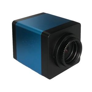 Image 5 - Cámara de microscopio Industrial de 13MP, salida HDMI VGA, lente de montaje en C 180X 300X, grabadora de vídeo de luz LED 56 para soldadura PCB