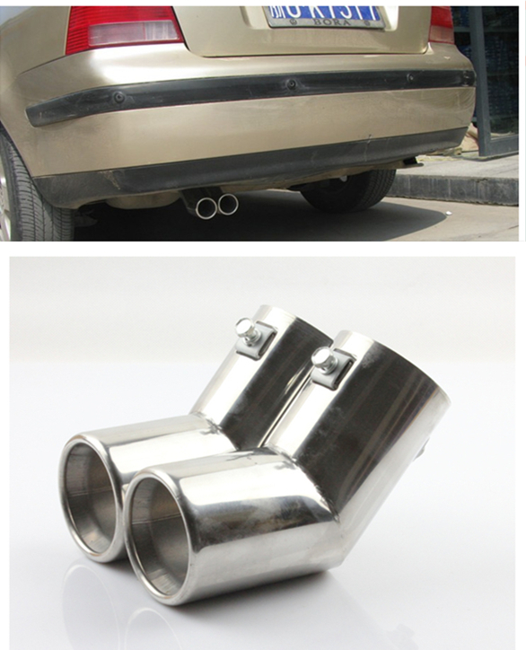 FUNDUOO Stainless Steel Exhaust Muffler Tip End Pipe For VW MK4 Golf Jetta Bora 1999 2000 2001 2002 2003 2004 Free Drop Shipping