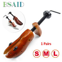 BSAID 2 Pcs Durable S/M/L Wooden Shoe Tree Shaper Adjustable Expander Shoe Trees For Men Women Shoes Rack Unisex Shoes Stretc