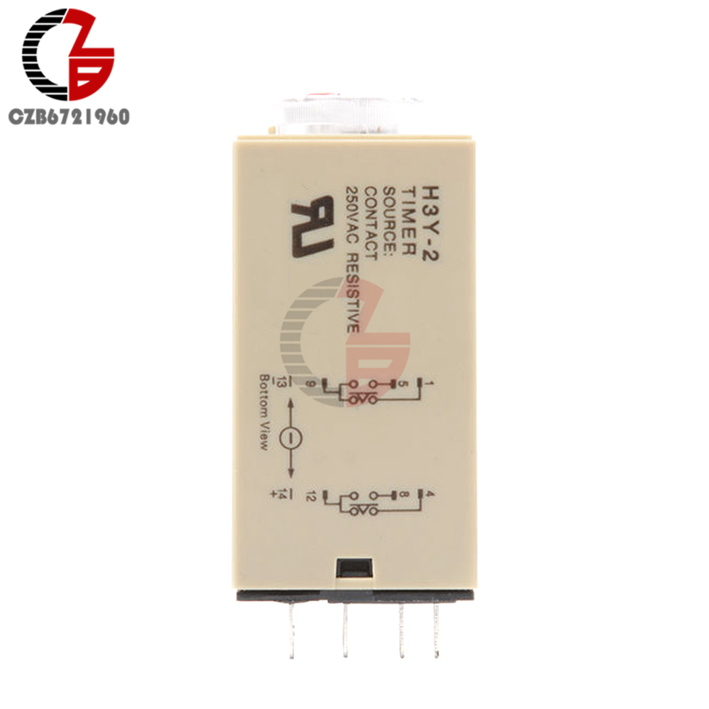 H3y 2 Ac 110v Time Delay Relay Module Timer Switch Timing Circuit Breaker Interface Units 1 X