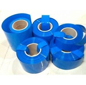 1 кг Размер опционально синий ПВХ термоусадочная трубка Горячая Батарея Набор Модель обволакивает 18650 батарея термоусадочный рукав изоляци...