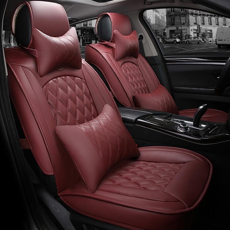 Universal car seat cover for mitsubishi carisma pajero 2 4 outlander xl colt lancer subaru forester impreza xv car seat cover