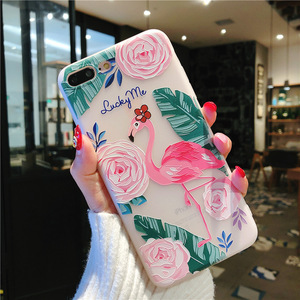 Image 2 - phone case 3D Emboss Beautiful Flower slim fit ShockAbsorbing Soft Rubber cover  soft TPU Skin Case for iphone 7 Xr X 8 xs Plus